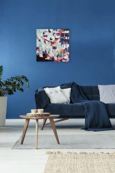 Abstract schilderij OrganizedChaos-1-interieur1