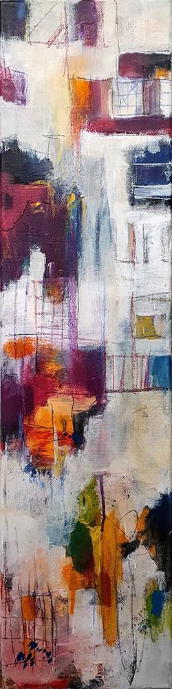 Abstract schilderij Organized Chaos-2
