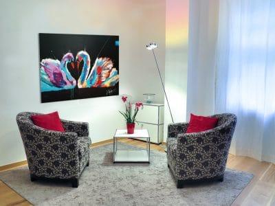 Dierenschilderij zwanen - interieur 1
