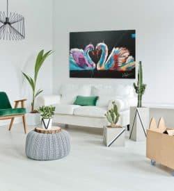 Dierenschilderij zwanen - interieur 2